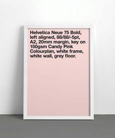 Helvetica Neue 75 Bold In Pink Type Design, Layout Design, Design Art, Print Design, Display Design, Web Design, Logo Design, Interior Design, Typography Poster