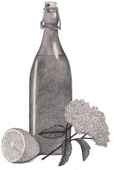 Elderberry juice by Valesca van Waveren Art + Illustration for Smulweb agenda 2016