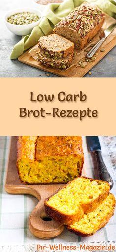 10 einfache Rezepte für Low Carb Brot: Kohlenhydratarm, kalorienreduziert, ohne Getreidemehl, gesund und gut verträglich ... #lowcarb #brot #backen