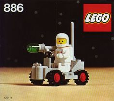 Space Buggy, 1979. Another early Space Lego kit. Simple, but fairly affordable even to a ten-year-old.