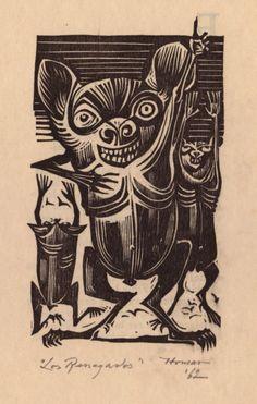 Los renegados, 1962 Ilustraciones en xilografía sobre papel