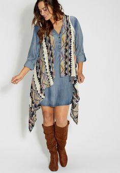 Plus Size Soft Knit Vest