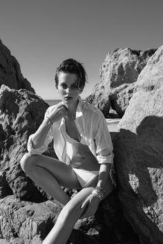 visual optimism; fashion editorials, shows, campaigns & more!: en dag på stranden: ellinore erichsen by anja poulsen for elle sweden july 2015