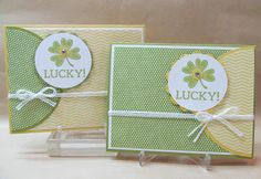 Lucky Shamrock Handmade Card with supplies from Stampin' Up!