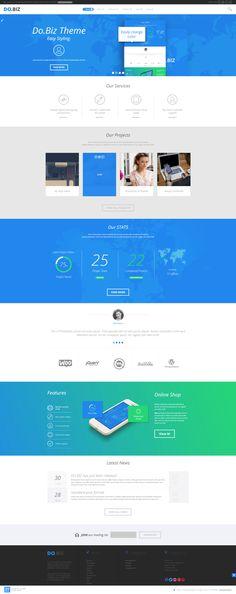 DO.BIZ - Business and Portfolio Theme by WordPress Design Awards , via Behance
