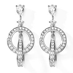 Victoria Wieck 2.21ct Absolute™ Pear and Round Interlocking Drop Earrings at HSN.com.
