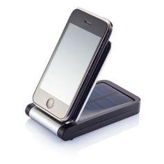 Chargeur solaire publicitaire et support téléphone Wallet - Cadeau d'entreprise écologique