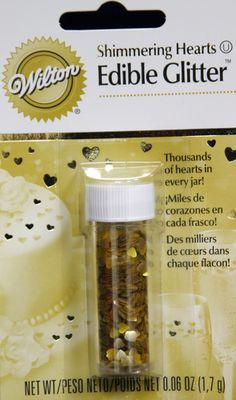 Gold Hearts Edible Glitter by Wilton