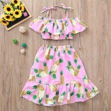 Summer Toddler Girl Pink Pineapple Printed Dress – Outfit Ideas for Girls Kids Summer Dresses, African Dresses For Kids, Girls Summer Outfits, Little Girl Outfits, Toddler Girl Outfits, Toddler Dress, Kids Outfits, Girls Dresses, Summer Clothes