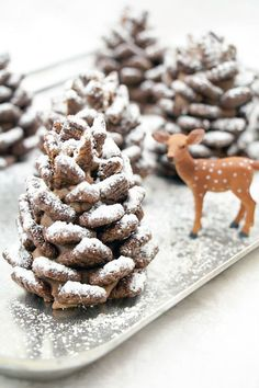 Not only are these edible no-bake chocolate pinecones a fun snack for kids, they also make for a surprisingly elegant dinner table display.