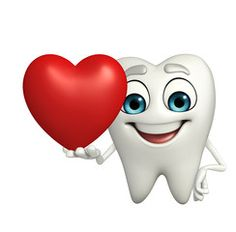 Teeth character with red heart Dental Clinic Logo, Dental Art, Folk Art Flowers, Flower Art, 3d Cartoon, Cartoon Images, Clipart, Teeth Images, Dental Videos