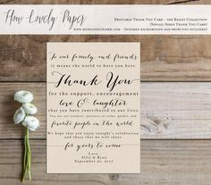 Hello and thank you for your interest in this printable. This listing is for a PRINTABLE single-sided thank you card for you to print at home or