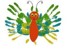 Eric Carle inspired butterfly - the very hungry caterpillar