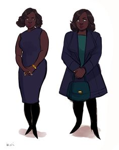 i've been watching how to get away with murder and did some character designs!