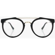 8f039fe8408e0 Boohoo Tanya Clear Double Bar Glasses ( 12) ❤ liked on Polyvore featuring  accessories