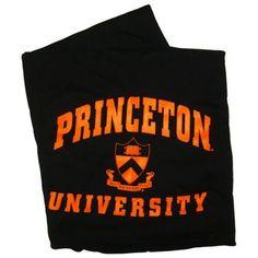 Princeton University black fleece blanket.