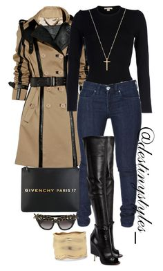 """""""Untitled #110"""" by iamdestinnny on Polyvore featuring Burberry, Michael Kors, Givenchy, Anna-Karin Karlsson, Chico's, Gucci, women's clothing, women, female and woman"""