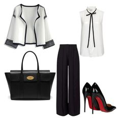 """""""..."""" by novagr ❤ liked on Polyvore featuring Chicwish, Mulberry, Miss Selfridge, Frame Denim and Christian Louboutin"""