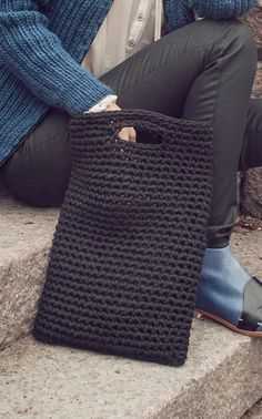 For the no-frills type of girl, this simple and minimalist crochet bag is ideal