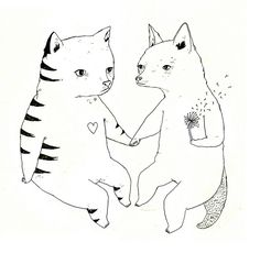 Cat Fox Love by Julia Pott
