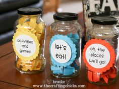 Summer Activity Jars - Sounds like fun!