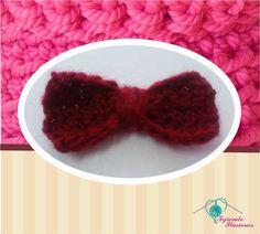 Modelo N° 28: Moño rectangular tejido a crochet