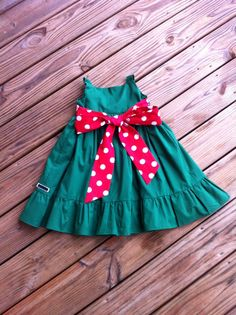 Girls Little Christmas Dress with ruffle by EverythingSorella, $58.50