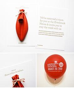 Oryginalne zaproszenia ślubne bądź save the date. Zaproszenia ślubne na balonie. Hello, please inflate the balloon!
