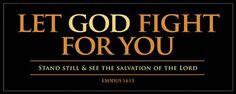 Let God Fight For You Plaque  -