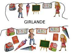 3m Girlande Schulanfang - Kinder Party Schuleinführung Schule Schulbeginn Fest Dekoration Schultüten