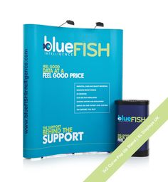 3x2 Pop Up Stand for Blue Fish Intelligence data reporting. Complete Pop Up Display kit just £475 from XL Displays UK.