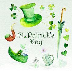 St. Patricks Day Aquarell St. Patrick's Day Clip Kunst