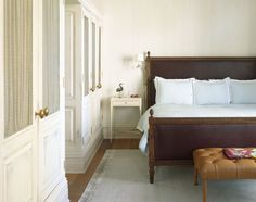 The Greenwich Hotel at the corner of Greenwich Street and North Moore Street in TriBeCa Louis bed headboard built ins closet