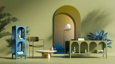 ____horizon____ on Behance 3d Studio, 3d Max, Stage Design, Interiores Design, Wall Design, Set Design, Interior Architecture, Minimalism, Furniture Design
