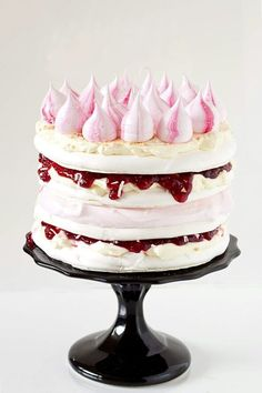 Iced Vovo Meringue Cake