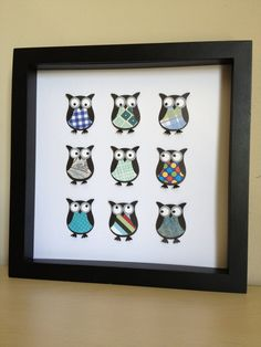 Owl 3D Paper Art customize for your nursery by PaperLine on Etsy, $35.00