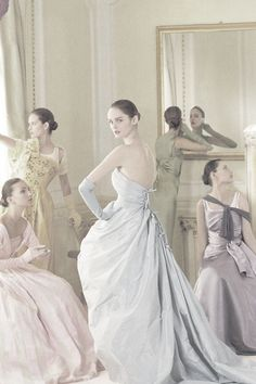 Tim Walker inspired by Cecil Beaton; model in the centre is Lisa Cant.