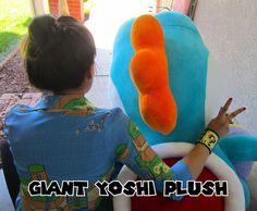 small and Giant Yoshi Plush (free)