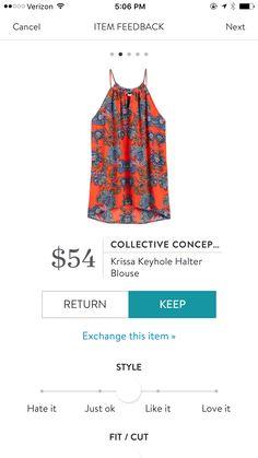 Collective Concepts Krissa Keyhole Halter Blouse