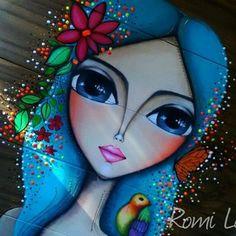 SILENCIOSAMENTE Arte Pop, Leaf Art, Whimsical Art, Painting For Kids, Art Sketchbook, Fabric Painting, Face Art, Watercolor Illustration, Lovers Art