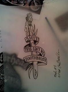 Ha!! tattoo flash by Cay Broendum