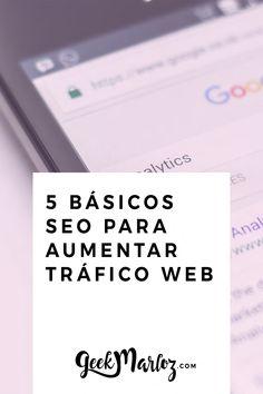 Así descubrí el SEO o Search Engine Optimization. ¿Qué es eso? Son una serie de acciones que realizar para beneficiar a tu web o blog dentro de los buscadores, principalmente Google (SEO Google). Ayudas a mejorar tu posicionamiento, lo que se traduce a estar dentro de las primeras sugerencias de búsqueda. Aprende a utilizar el SEO a tu favory mejora tu presencia online. ¡Aumenta el tráfico a tu web y atrae más clientes a tu negocio! #SEO #SearchEngineOptimization #SEOtips #SEOtrucos Blogging, Seo, Google, Marketing Ideas, Blog Tips, School Life, Design Web