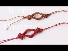 pulsera macrame con rombos | friendship bracelet parte 3 - YouTube