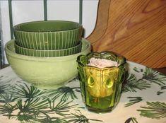 grün, grün, grün - Geschirr und Glas Serving Bowls, Tableware, Design, Home, Environment, Green Dinnerware, Table, Glass, Homes