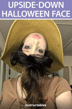 With makeup and latex, you can make a unique illusion Halloween costume where it looks like your face is actually upside down. Crazy Halloween Makeup, Theme Halloween, Scary Halloween Costumes, Halloween Looks, Halloween Fashion, Halloween 2020, Holidays Halloween, Diy Costumes, Halloween Make Up