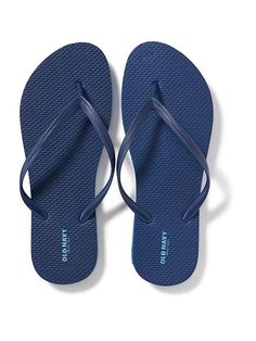 07feaa18f184f5 Old Navy   Classic Flip-Flops for Women   Blue   Size 7 Purchased 11.8