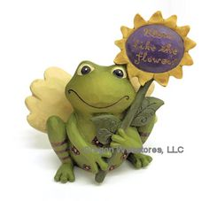 """Bloom like the flowers"" Frog Figurine"