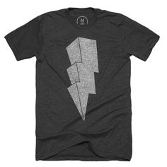 a50f8f93b045 Cotton Bureau – Lightning Bolt by Dan Jones Lightning Bolt