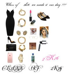 """""""CLASS OF 2K16 """" by manija-jones ❤ liked on Polyvore featuring moda, Topshop, Christian Louboutin, MICHAEL Michael Kors, Michael Kors, Forever 21, MAC Cosmetics, Ray-Ban, Bellybutton i Accessorize"""