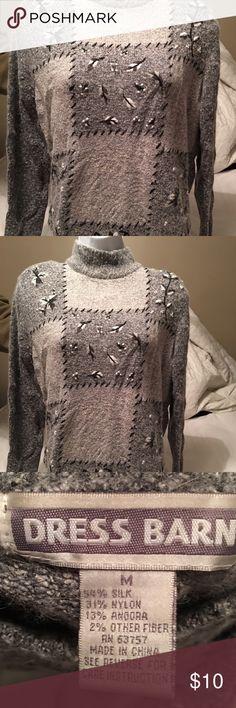 EUC Beautiful silky sweater Beautiful grey silky sweater. In EUC. Dress Barn Sweaters Cowl & Turtlenecks